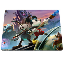 Hot Sell Epic Mickey Background Pattern Durable Gaming Optical Notebook Computer Mouse Pad Silicone Rectangular Pads