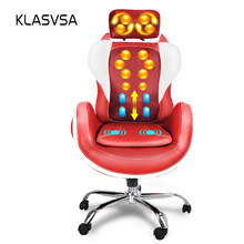 KLASVSA Electric Heating Vibration Body Back Massage Chair Neck Pain Relief Therapy Kneading Massage Pillow Muscle Stimulator