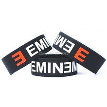 300pcs One Inch Eminem wristband silicone bracelets free shipping by DHL express(China)
