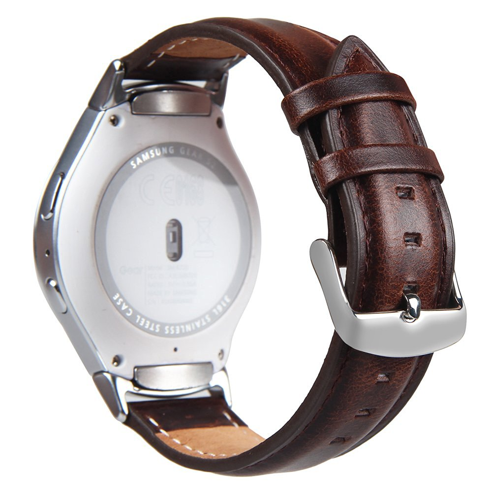 V-MORO Genuine Leather band For Gear S2 Leather Wrist Band Replacement Strap with Buckle Clasp For Samsung gear S2 smart watch<br><br>Aliexpress