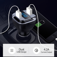 Car Kit GPS Locate Tracker Finder Kit Dual USB OLED Battrey Voltage Display 24W Smart Quick Car Charger LED display