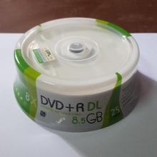 25 Pieces White Inkjet Printable 8X DVD+R DL Double Layer Recordable Disc Media 8.5GB DVD disc(China)