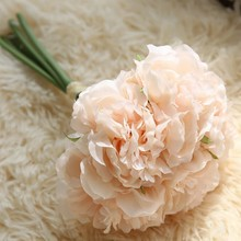 1 Pcs Hand holding Peony flowers Artificial flower Wedding Church Office Furniture Home Decoration Accessories flores