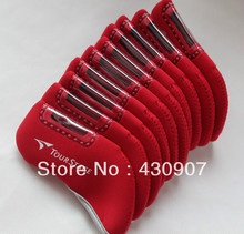 10pc/set Red Tour Stage Iron Head Covers for tourstage iron sets golf covers
