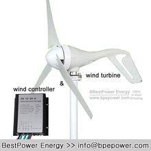 3 Blades 400W 12v 24V Wind Turbine Generator With Waterproof Charge Controller Wind Generator Kits(China)