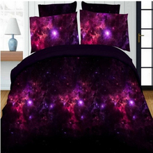 4pcs 3D Print Duvet Cover Sheet Pillowcases galaxy sky duvet cover set Colorfast no pilling shrink-proof suits 2.0mx2.3m bed
