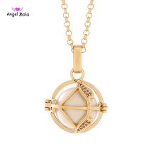 Angel Bola 2017 New Sagittarius Perfume CZ Pendant Women Stainless Steel Necklace Sound Ball Aroma Pendant Jewelry L135