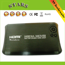 "Mini 1080P 2.5""SATA Full HD MKV 2.5 HDD HDMI Media Player USB OTG SD AV TV AVI RMVB RM external hdd himedia media player Center(China)"