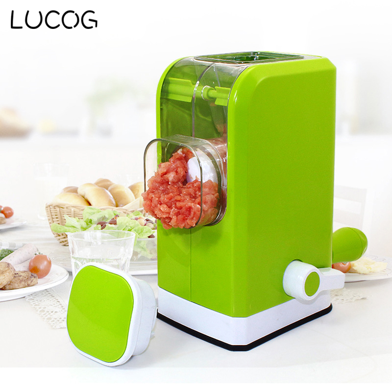 LUCOG Home Meat Slice Machine Manual Kitchen Meat Grinder With Creative 6 Stainless Steel Blades Spice Pepper Grinder<br>