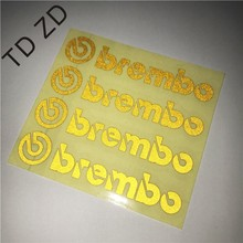 TD ZW Five colors Brembo Logo car stickers Brembo Brake Caliper Vinyl Set of 4 Stickers For Auto performance decoration stickers