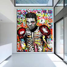 ali boxing poster Alec monopoly Graffiti art print canvas for wall art decoration oil painting wall painting picture No framed