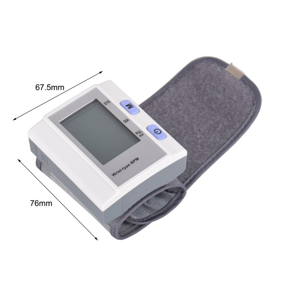 Blood Pressure Monitor Wrist Type Full-automatic Tonometer Meter Smart Digital Health Care Household Sphygmomanometer Healthy 17