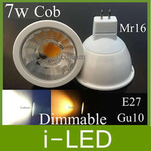 Cree Led Lamp Gu10 E27 Mr16 Dimmable Led Spot Light Bulb 7w 600lm warm / cool White 120 baem angle 3 year warranty CE UL Approve