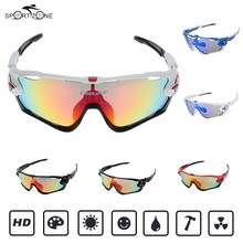 Polarized Sunglasses Men Sport Cycling Eyewear Lady Bicycle Reflective UV Protection Goggles with 4Lenses In Case Oculos De Sol