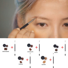Hot Sell Waterproof Eyes Makeup Eyebrow Powder Cream Palette Eye Brow Enhancer Shadow + Double Head Brush   HS11