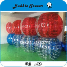 Free shipping  TPU 1.0m diameter soccer bubble ball,rubber ball,bubble football for adults