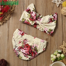 2017 cute Best seller DROP ship Toddler Kids Baby Girls Floral Swimsuit Swimwear Bathing Suit Bikini Set S30 baby clothes