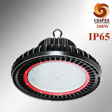 CE ROHS 5 years warranty UFO die cast aluminum 120lm/w AC110v 220v 230v 240v 277v 50/60hz IP65 200W led highbay light