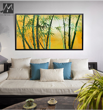 Large canvas art 100 hand painted bamboo painting unframed Chinese oil painting on canvas picture for living room wall pictures