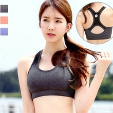 Cross Back Big Girl Women's Sport Bras ShockProof Breathable Quick Dry Tech Super Elastic Lady Push up Tops Yoga Bra Brassiere(China)