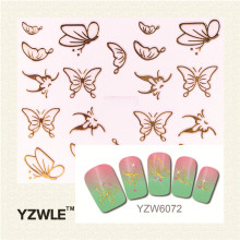 YZWLE 1 Pc 2016 Top Sell Gold Butterfly  Nail Art Sticker  Nail Gold Sticker