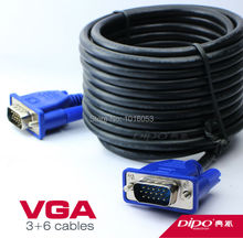 DIPO 15m 49.2FT vga cable 3+6 / PC HDB15 Male to Male Monitor Extension Cable and Clear display Export Factory Outlets