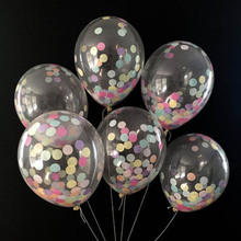 1pcs new 12 inch polka dots balloon Transparent balloon colorful dots printing 2.5g birthday party wedding supplies