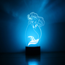 USB LED 3D Creative Visual Table Lamp For Kids Gift Girls Bedroom Bedside Princess Lamp Sleeping Night Light Fish Light Fixture(China)