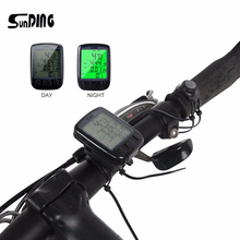SunDing SD 563B Waterproof Cycling Bike Bicycle Computer LCD Backlight Bicycle Odometer Speedometer Bike Stopwatch 3 Colors(China)