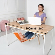 New 1pc Portable Novelty Mini Indoor Outdoor Household Office Desk Foot Rest Stand Adjustable Desk Chair Feet Hammock Accessory(China)