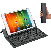 Foldable Bluetooth Keyboard Wireless Keyboards Ultra Slim Pocket Keyboard with Kickstand Universal for Smart Phone Tablet PC