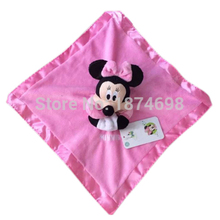 New Pink Minnie Plush Blankie for Baby Toy Newborn Reassure Towel Snuggle Blanket by Kids Baby Girls Preferred 33*33cm