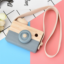 2017 Gray Wooden Toy Camera Kids Creative Neck Hanging Rope Toy Photography Prop Gift Super Eye Catching Camera Drop Shipping(China)