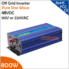 800W 48VDC Off Grid Inverter, Pure Sine Wave Inverter for 110VAC or 220VAC Home Appliances in Solar or Wind Power System