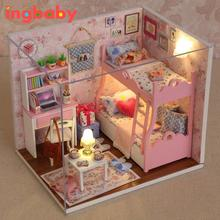 Wonderful Doll House DIY Mood for Love Manual Assembly Model Send Valentine Girl Birthday Creative Presentation ingbaby WJ1142(China)