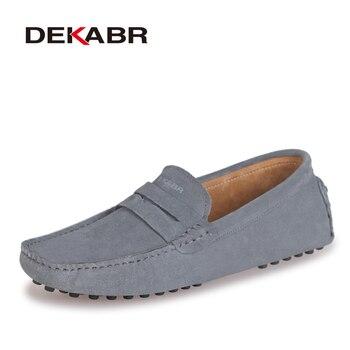 DEKABR Marque De Mode D'été Style Doux Mocassins Hommes Mocassins Haute Qualité En Cuir Véritable Chaussures Hommes Appartements Gommino Chaussures de Conduite