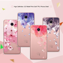 "3DM5c Relief Phone Case Cover For Meizu M5c 5.0"" Floral Cartoon Peach Lace Soft TPU Back Covers Coque For Meizu M5c M5 c Funda"