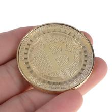 Gold Plate Bitcoin Commemorative Coins Collectible BTC Coins Art Collection Gift Physical Metal Antique Imitation Bit Coins(China)