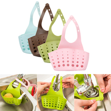 Storage Holder Racks 1 PC Portable Foldable Home Kitchen Hanging Drain Bag Basket Bath Storage Tools Sink Holder Wholesale 20M23(China)