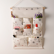Vintage home decor wall storage bag door hanger key coin phone reminder bags hanging case home linen box pocket