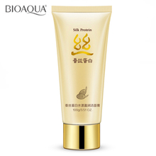 BIOAQUA Brand Skin Care Silk Protein Deep Pore Cleansing Cream Milk Facial Face Cleaner Acne Remover Hydra Oil-control Face Care(China)