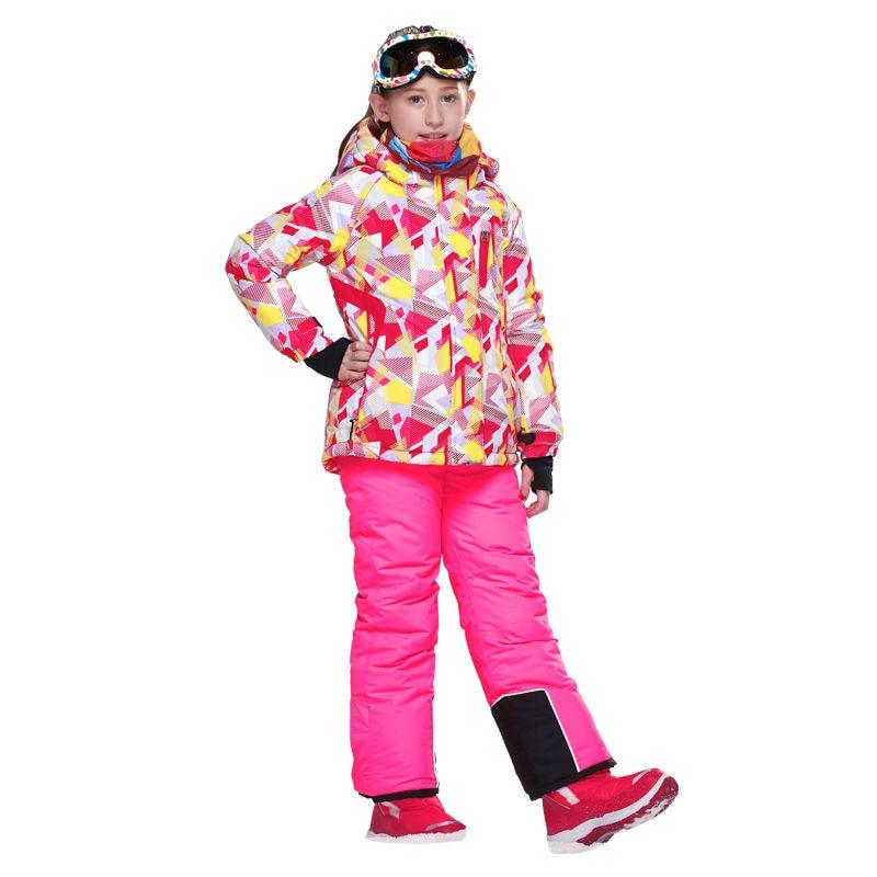 Girls Ski Suit Kids Camouflage Ski Jacket Ski Pants Breathable Waterproof Thermal Snow Clothes 8019<br><br>Aliexpress
