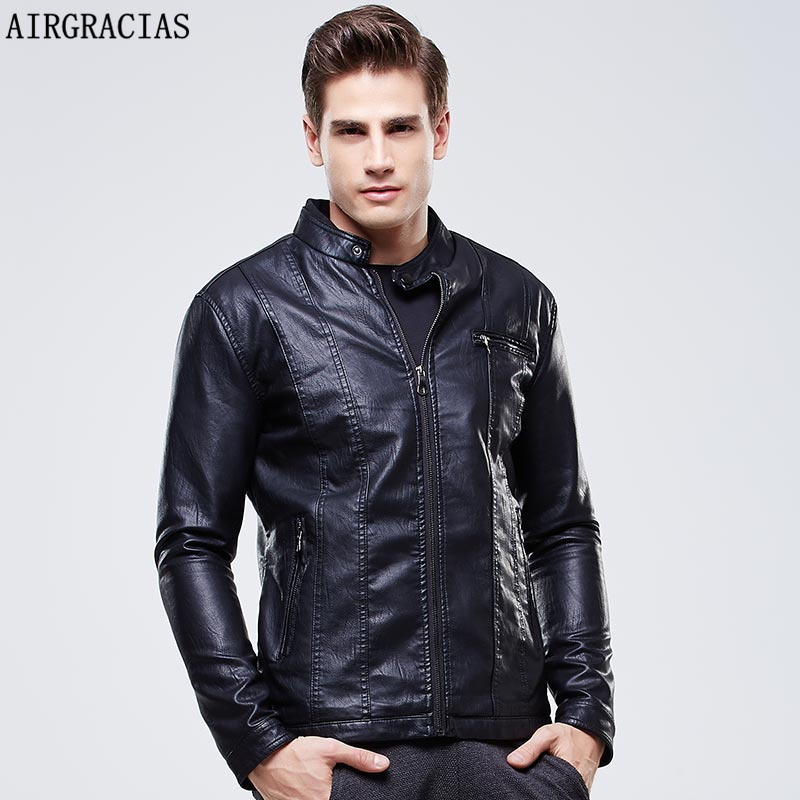 AIRGRACIAS Quality 3XL Leather Jacket Male Fashion...
