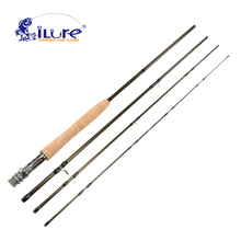 iLure Carbon Fly fishing rod 4 section 2.43 Mt Fly fishing rod 99% carbon spinning fishing rod angel fishing rod peche pesca(China)