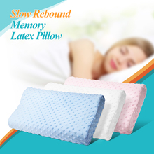 Orthopedic Pillow 3 Colors Memory Foam Pillow Latex Neck Pillow Fiber Slow Rebound Soft Massager Cervical Health Care 2018 New(China)