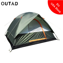 Portable Double Layer Waterproof Outdoor Camping Hiking Tent Big Four Season Travel Climbing Tent with One Bedroom For 4 Person(China)