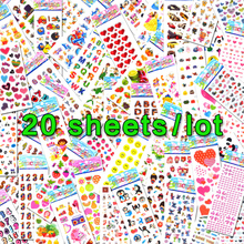 20 Sheets Lots Wholesale Kawaii Emoji Reward Kids Children Toys Scrapbooking Bubble Puffy Stickers Factory Direct Sales 0001-m20(China)