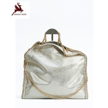 NEW Exclusive Shaggy Deer Brand Luxury Quality 3 Chain Falabellas Handbag Fold-Over Classical PVC Large Capacity Shopping Tote(China)