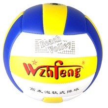 Size 5 Outdoor Sand Beach Soft PU Leather Volleyball Game Ball Thickened Volleyball Match Training(China)