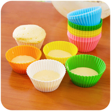 12 PCS/Set Cake Cup Silicone Cake Mold DIY Baking Fondant Muffin Cake Decorating Tools Random Color(China)